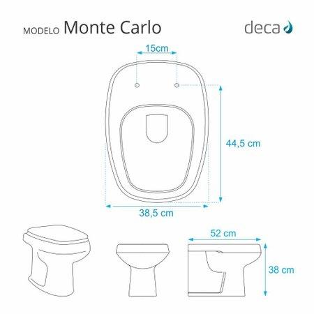Tampa de Vaso Monte Carlo Branco para bacia Deca