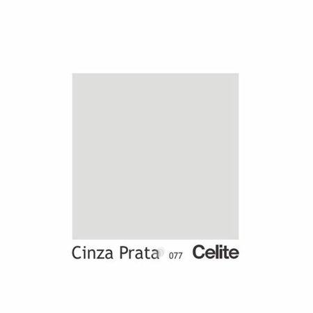 Assento Sanitario Almofadado Fit Cinza Prata para Vaso Celite