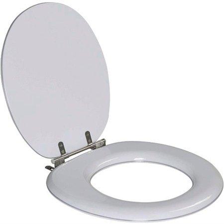 Assento Sanitario Almofadado Carina Silver (Cinza Claro) para Vaso Ideal Standard