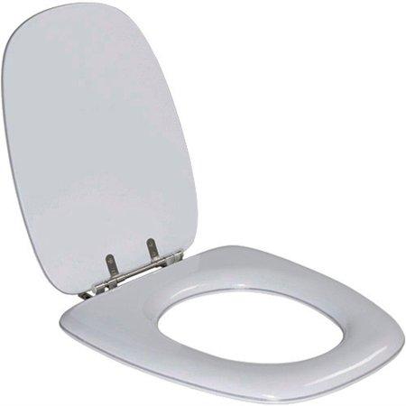 Assento Sanitario Almofadado Stylus Cinza Prata para Vaso Celite
