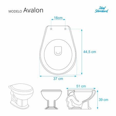 Assento Sanitario Avalon Verde Amazonia para vaso Ideal Standard