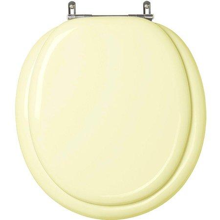 Assento Sanitario Almofadado Contemporary Marfim (Bege Claro) para Vaso Hervy