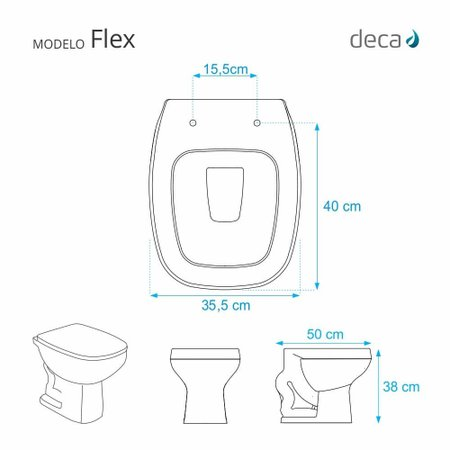Assento Sanitário Flex Branco Para Vaso Deca
