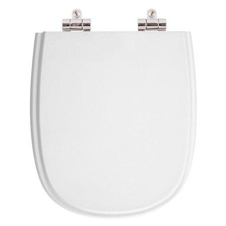 Assento Sanitario Poliester com Amortecedor Paris Branco (Neve) para Vaso Ideal Standard
