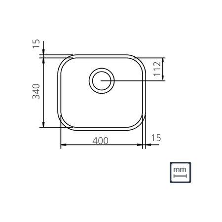 Cuba n.0 Tramontina Lavínia 40 BL Standard em Aço Inox Polido 40 x 34 x 14,5 cm Sem Válvula