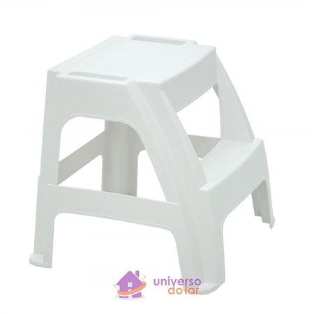 Banqueta Escada Tramontina Paiva em Polipropileno Branco
