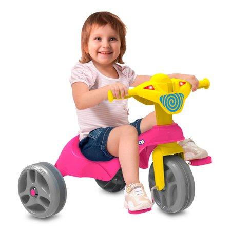 Triciclo Tico-Tico Club Rosa - Bandeirante