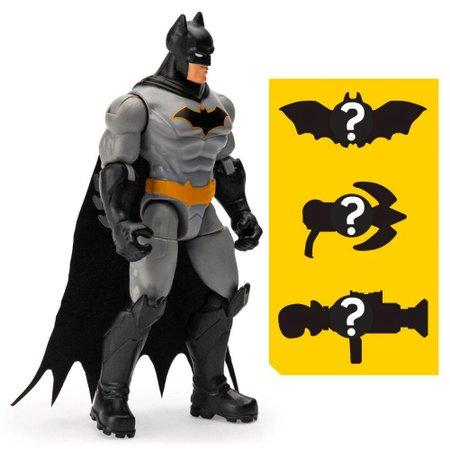 Mini Figura DC Comics Batman Cinza Acessórios Surpresa-Sunny