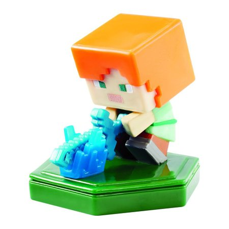 Mini Figura Minecraft Comic Maker Attacking Alex - Mattel