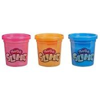 Play-Doh Slime Azul, Laranja e Rosa - Hasbro