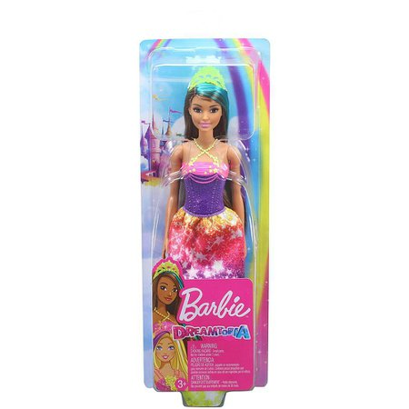 Barbie Dreamtopia Princesa Morena Vestido Arco-Íris - Mattel