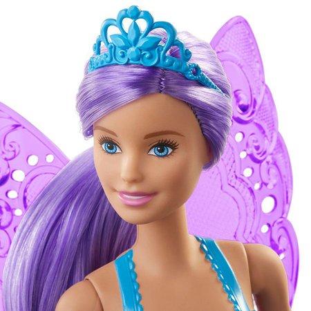 Barbie Dreamtopia Fada Cabelo Roxo - Mattel