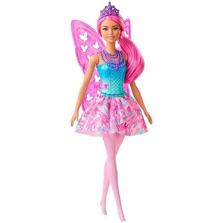 Barbie Dreamtopia Fada Cabelo Pink - Mattel