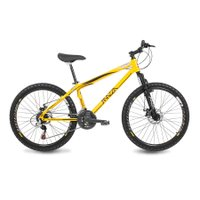Bicicleta Mazza Bikes Fire - Aro 26 Disco - Shimano 21 Marchas - 17 - Amarelo