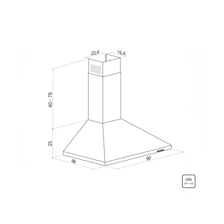 Coifa de Parede Tramontina Pirâmide em Aço Inox 90 cm