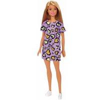 Barbie Fashion Beauty Loira Vestido Roxo Corações - Mattel