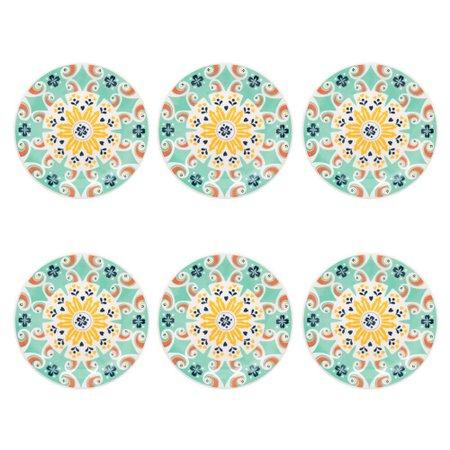 Conjunto de 6 Pratos Sobremesa 20cm Floreal Solar