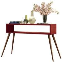Aparador Decorativo Sala de Estar 120cm Pés Palito Acre Vermelho - Gran Belo