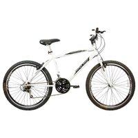 Bicicleta Aro 26 Freios V-Break Quadro Aço 21v Thunder Sport Gold Branco - Mega Bike