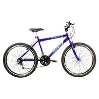 Bicicleta Aro 26 Freios V-Break Quadro Aço 21v Thunder Sport Gold Azul - Mega Bike