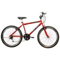 Bicicleta Aro 26 Freios V-Break Quadro Aço 21v Thunder Sport Gold Vermelho - Mega Bike