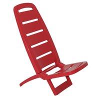 Cadeira Dobrável Tramontina Guarujá em Polipropileno Vermelho