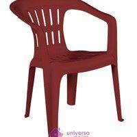 Cadeira Tramontina Atalaia Basic com Braços em Polipropileno Vermelho Tramontina