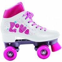 Patins quad love tam. 37 c/ cadarço branco/pink Bel Sports