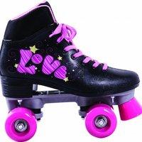 Patins quad love tam. 37 com cadarço preto/pink - Bel Sports