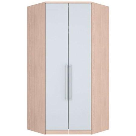 Guarda-Roupa Canto Closet 2 Portas Diamante Henn - Fendi com Branco