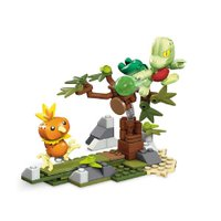 Pokémon Mega Construx Torchic vs Treeko - Mattel