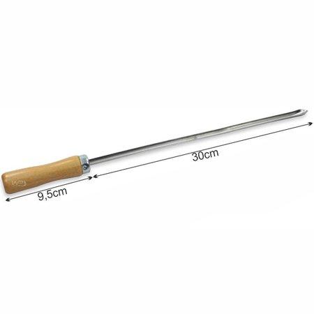 Mini Espeto Lamina 30cm Aço Inox para Aperitivos 10 Peças Simples