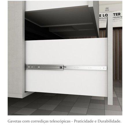 Gabinete para Banheiro sem Cuba Urban 60cm - Bosi - Argento/Preto