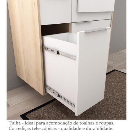 Gabinete para Banheiro com Cuba Jazz 80cm - Bosi - Faia/Branco