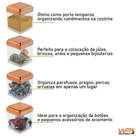 Pote Multiuso 150ml Porta Temperos Objetos Parafusos 5 Peças - Rosé Gold