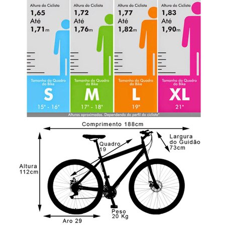 Bicicleta Esportiva Aro 29 Freio a Disco Sparta Quadro 19 Aço Branco - Colli Bike