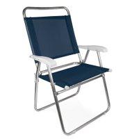 Cadeira Master Plus Fashion Alumínio - Azul Marinho