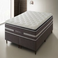 Conjunto Cama Box Queen Size Dangelis Dg 332 Anjos 158x198cm Pillow Top