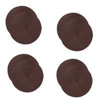 Jogo americano redondo 8 (oito) unidades -  Chocolate