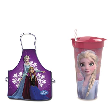 Avental e copo 2 em 1-  540 ml - Frozen - Disney
