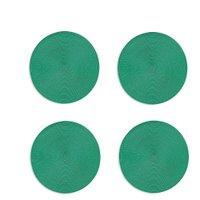 Jogo Americano Redondo 4(quatro) unidade Verde Esmeralda