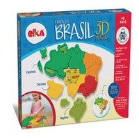 Quebra-Cabeça Mapa do Brasil 3D Plástico - Elka