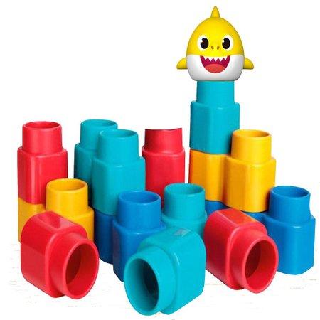 Fofo Blocos Baby Shark 15 peças - Elka