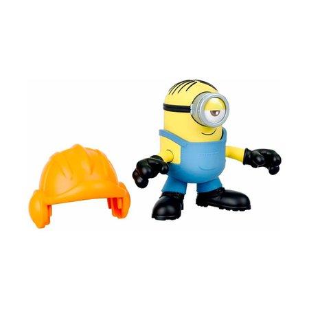 Imaginext Figura Básica Minions Stuart Capacete - Mattel