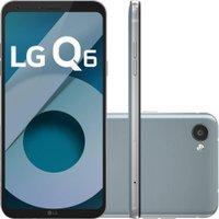 Smartphone LG Q6 Dual Chip Android 7.0 Tela 5.5` Full Hd+ Octacore 32GB 4G Câmera 13MP - Platinum