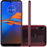 Smartphone Motorola Moto E6 Plus 32GB Dual Chip Tela 6.1` 4G Câmera 13MP+2MP - Rubi
