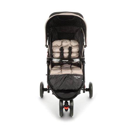 Carrinho de Bebê Voyage Delta Bege Grid - IMP01476