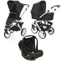 Carrinho de Bebê ABC Design Salsa 3 + Moisés + Bebê Conforto Piano