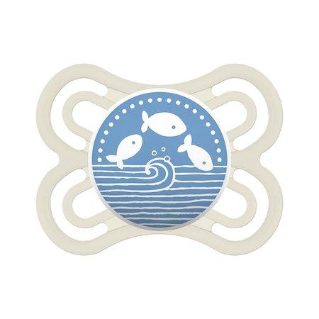 Chupeta Mam Perfect Azul Baleia e Peixes 0-6M Dupla 2971