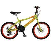 Bicicleta Infantil de Passeio Aro 20 Freio a Disco 21 Marchas Skyll Boy Quadro 12 Aço Amarelo Neon - Colli Bike